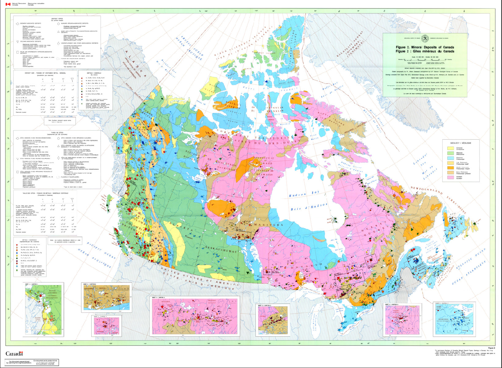 130  Canadian Mineral Deposits (1984) - Science gc ca