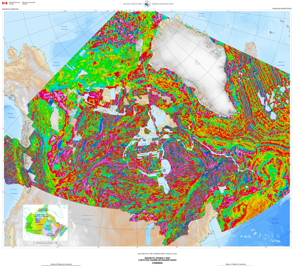 Pics Of Canada Map.173 Magnetic Anomaly Map Of Canada 2015 Science Gc Ca